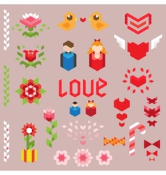 Geometric love collection vector