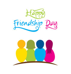 Happy friendship day greeting design vector