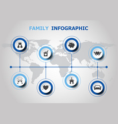 Infographic design with family icons vector