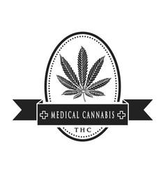 Medical cannabis-emblem vector
