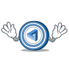 Mocking maidsafecoin mascot cartoon style vector