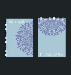 notebook cover design vector image
