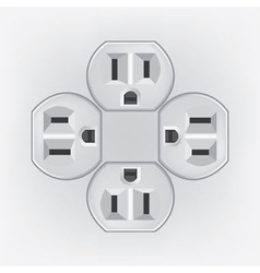 Plug socket faces vector image vector image