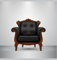 retro chair black vector image vector image