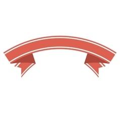 ribbon banner decoration vector image