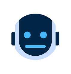 Robot face icon sad face dissappointed emotion vector