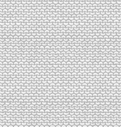 Seamless pattern of garter stitch vector