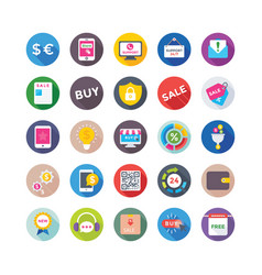 shopping and commerce icons 4 vector image vector image