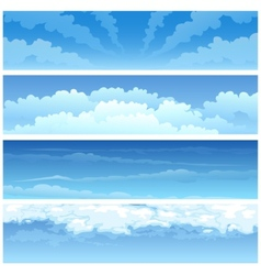 Skyscape set vector