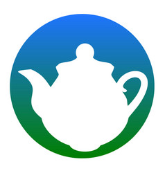tea maker kitchen sign white icon in vector image