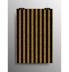 Vertical poster parallel gold sequins lines vector