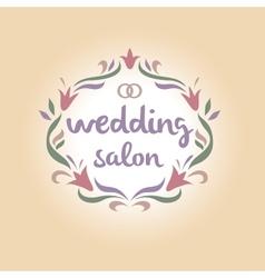Wedding salon Vintage logo vector image