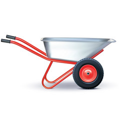 wheelbarrow on white vector image