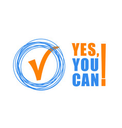 yes you can - color text on white background vector image