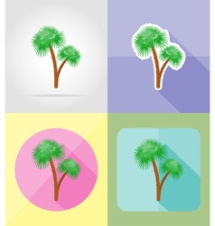 Objects for recreation a beach flat icons 11 vector