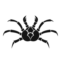 Crab icon simple style vector