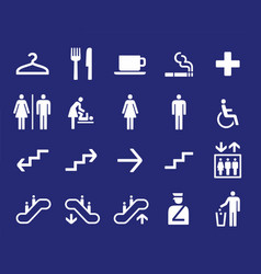 office navigation pictograms vector image