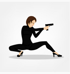 Shooting girl image vector