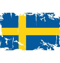 Swedish grunge flag vector