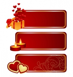 Three valentines tablets vector