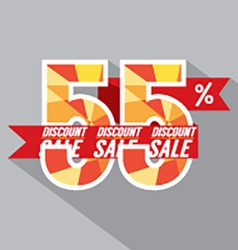 Discount 55 percent off vector