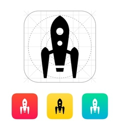 Long rocket icon on white background vector