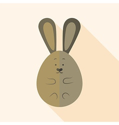 Easter rabbit egg shaped vector