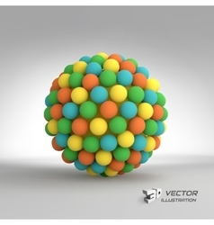 Sphere 3d template abstract vector