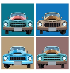 Old pickup vector