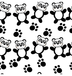 Panda seamless vector