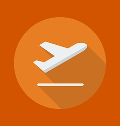 Transportation flat icon departure vector