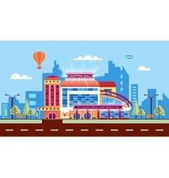 Shopping center 1 vector image