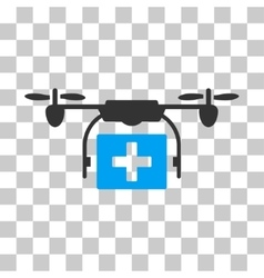 Ambulance Drone Icon vector image vector image