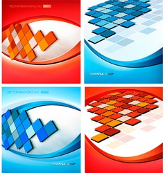 backgrounds with mosaic vector image