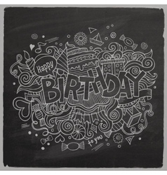 Birthday chalkboard background vector