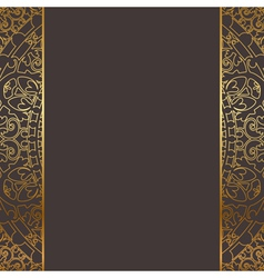 brown and gold frame vector image