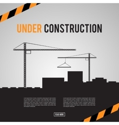 Building under Construction site vector image