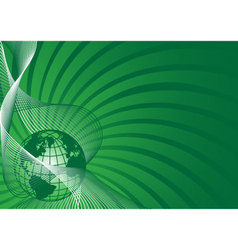 business background with green world globe vector image vector image
