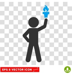 Child with freedom torch eps icon vector