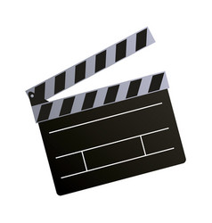 Clapper board action video filmstrips vector