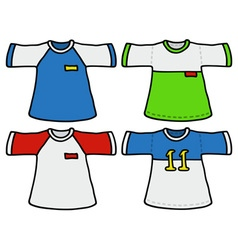 Color sports shirts vector image vector image