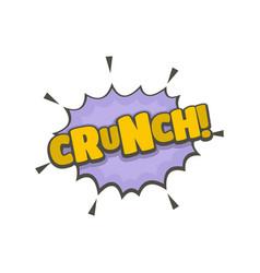 Comic boom crunch icon flat style vector