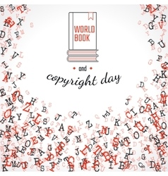 Copyright and book day vector