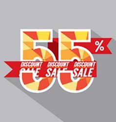 Discount 55 percent off vector