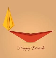 Diwali diya origami vector