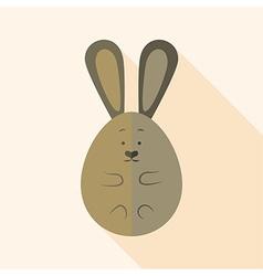 Easter rabbit egg shaped vector