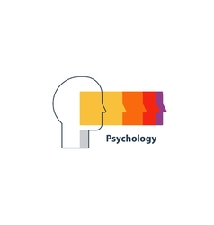 Emotional intelligence concept psychology logo vector