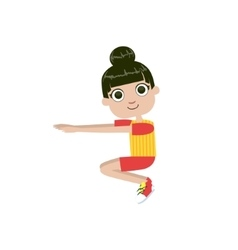 Girl Doing Sit Ups vector image