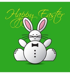 greeting card - lovely Easter bunny vector image