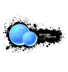 Grunge background with circles vector image vector image